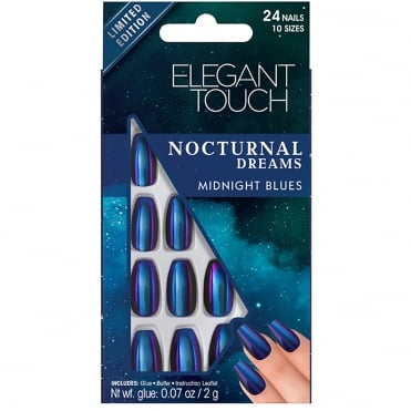 Nocturnal Dreams False Nails - Midnight Blues (24 Nails)