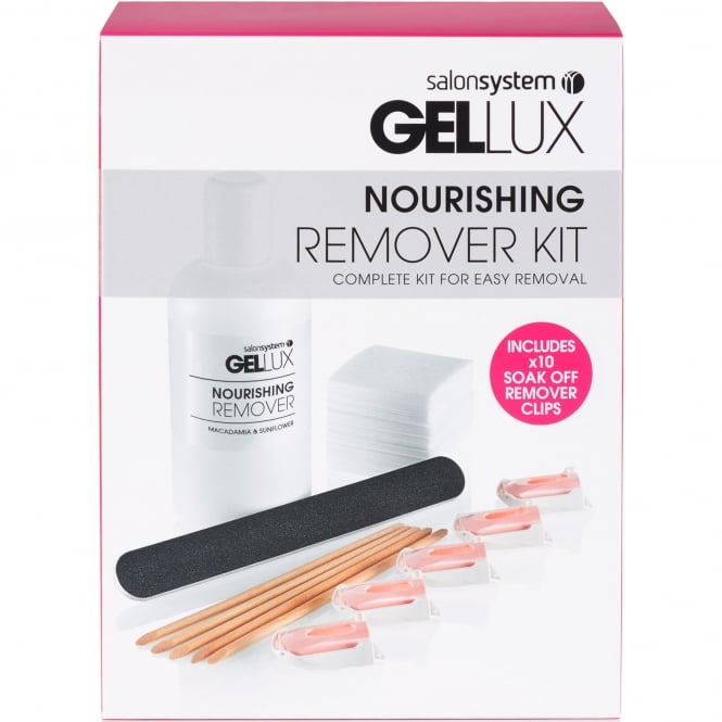 Gellux Nourishing Remover Kit - Complete Kit For Easy Removal (0212136)
