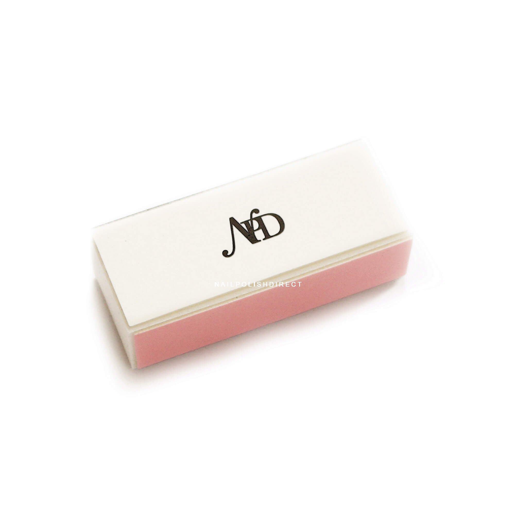 Nail Polish Direct White & Pink 4 Way Block Nail File
