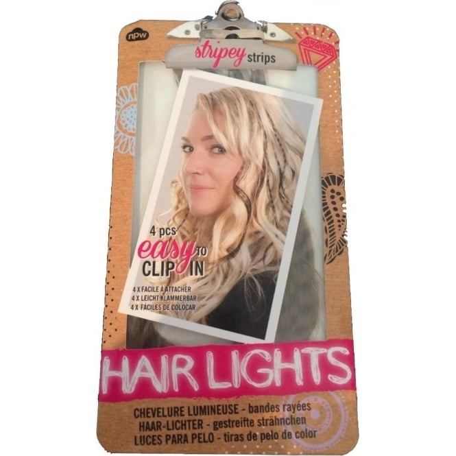 NPW Stripey Strips 4pcs Easy To Clip In Hair Lights
