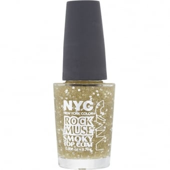 NYC Nail Polish - Rock Muse Collection - Smokey Top Coat (004 Gold Maiden) 9.7ml