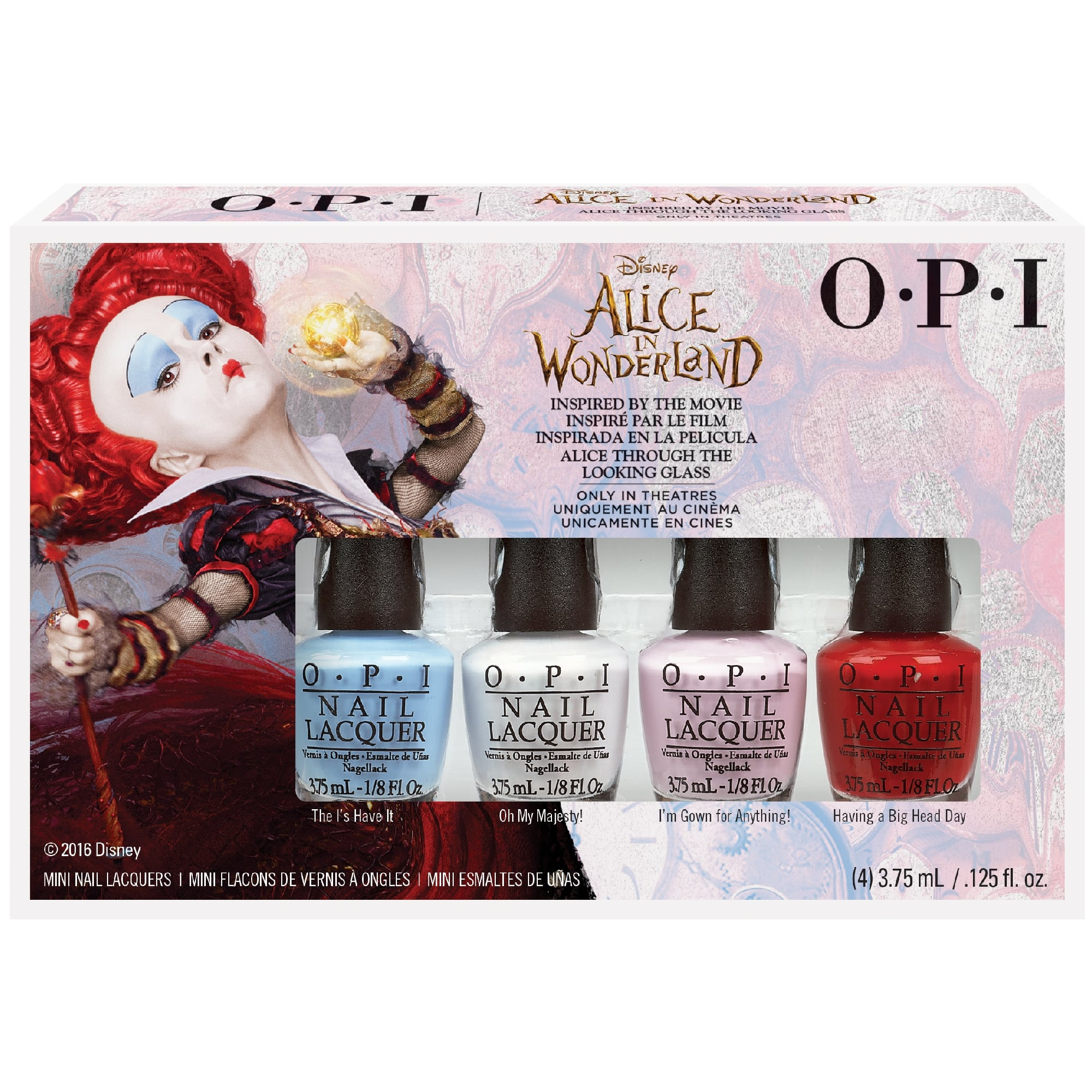 Alice In Wonderland 2016 Nail Polish Collection - Mini Pack 4 x 3.75ml