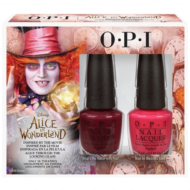 OPI Alice In Wonderland 2016 Nail Polish Duo - Mad For Madness Sake & Whats The Hatter With You (2 x 15ml)
