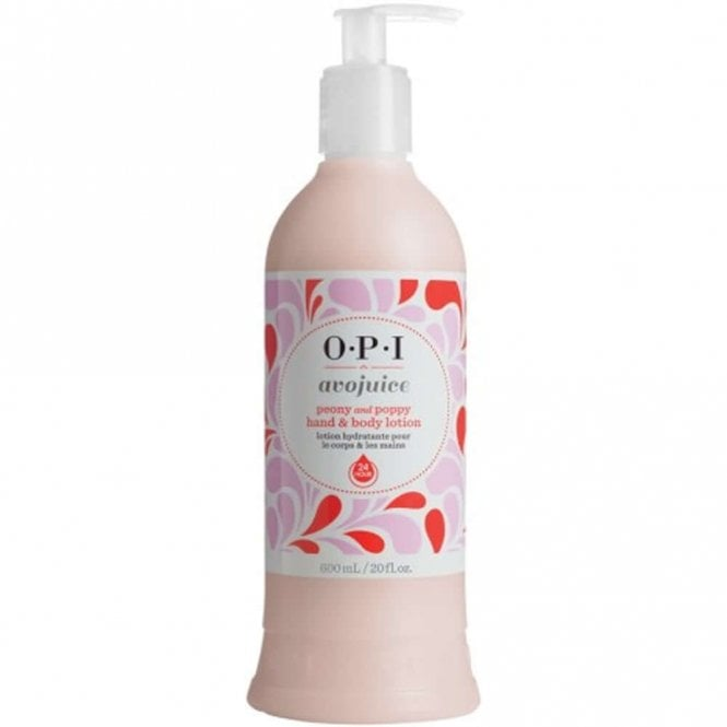 OPI Avojuice Hydrating Skin Quenchers - Peony And Poppy Hand & Body Lotion 600ml