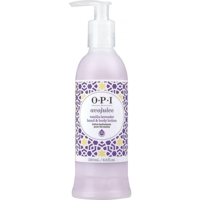 OPI Avojuice Hydrating Skin Quenchers - Vanilla Lavender Hand & Body Lotion 250ml