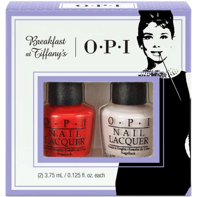 OPI Breakfast At Tiffany's Nail Polish Collection 2016 - Meet My Decorator Mini-2 Pack Duo 1 - 2 x 3.75ml (HRH23)