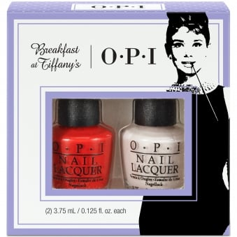 Breakfast At Tiffany's Nail Polish Collection 2016 - Meet My Decorator Mini-2 Pack Duo 1 - 2 x 3.75ml (HRH23)