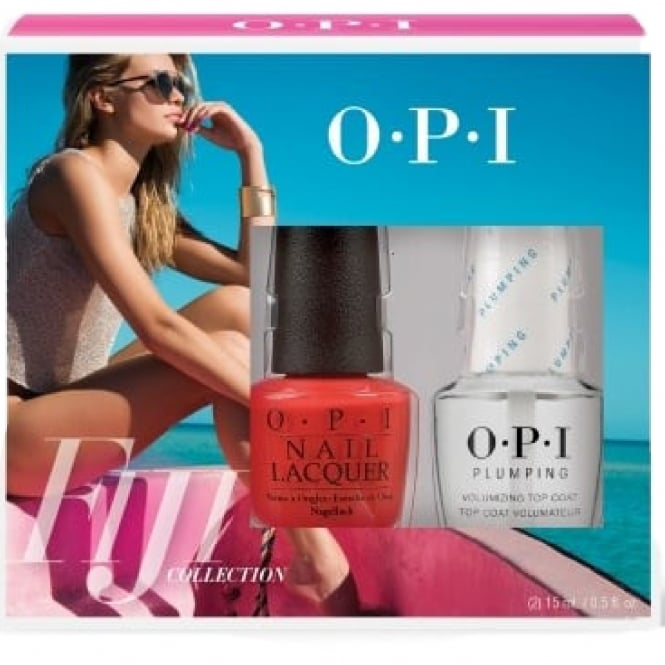OPI Fiji Nail Polish Collection 2017 - Living On The Bula-Vard & Top Coat Set (2 x 15ml)
