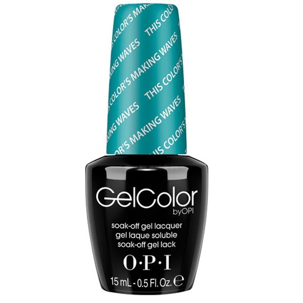 Opi Gel Color Soak Off Gel Polish This Colour Making Waves 15ml Gc H74