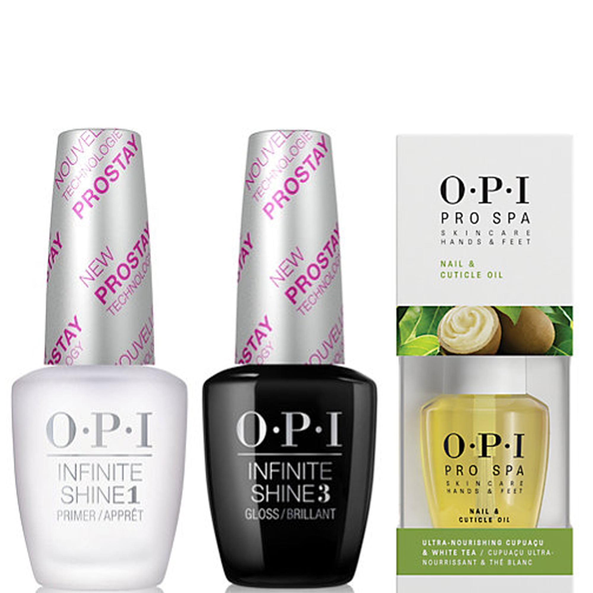 OPI Natural Top & Base Coat - Pro Spa Cuticle Oil Set 2x 15ml & 14.8ml