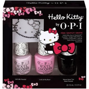 Hello Kitty 2016 Nail Polish Collection Trio Set - Hello Kitty Sparkle & Shine (3 x 15ml)