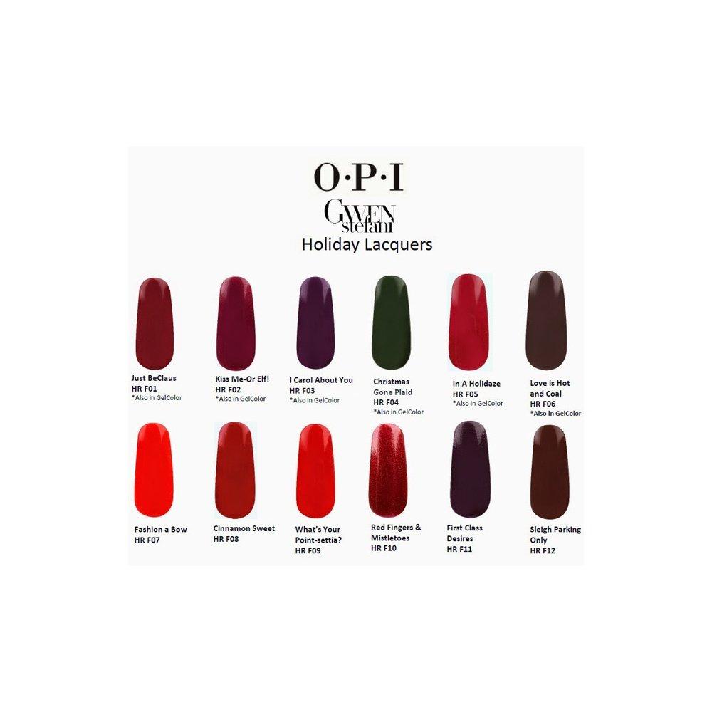 OPI HolidayGwen Stefani 2014 Nail Polish Collection Love Is Hot & Coal