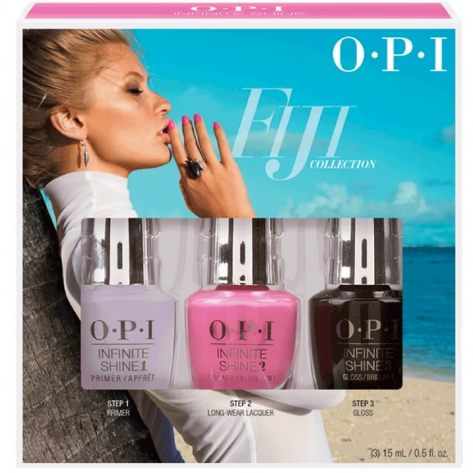 OPI Infinite Shine Fiji Nail Polish Collection 2017 - Two-Timing The Zones Primer & Gloss Set (3 x 15ml)