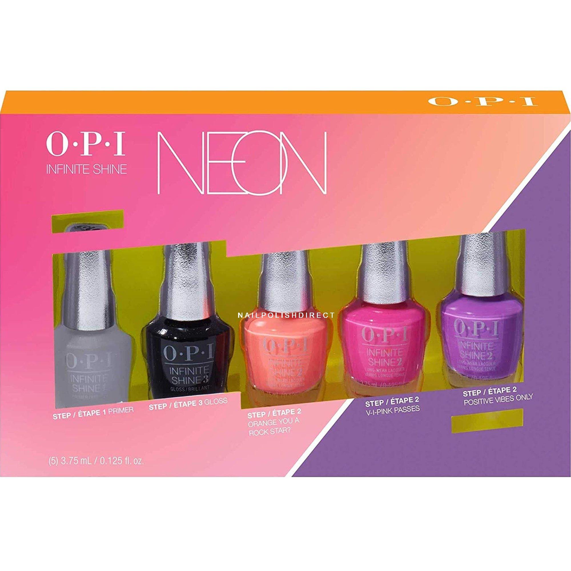 OPI Mini Set - Neon 2019 Nail Polish Collection (5 X 3.75ML) (ISDN1)