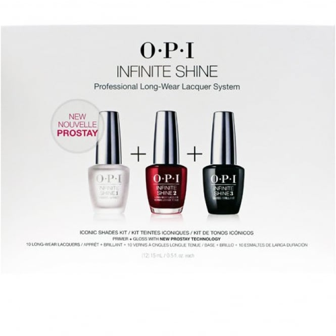 OPI Infinite Shine Professional Long-Wear Lacquer System - Iconic Shades Kit (12 x 15ml)