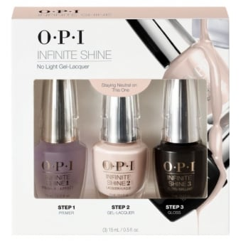 OPI Infinite Shine Staying Neutral On This One Trio - Primer & Gloss Coat (3x 15mL)