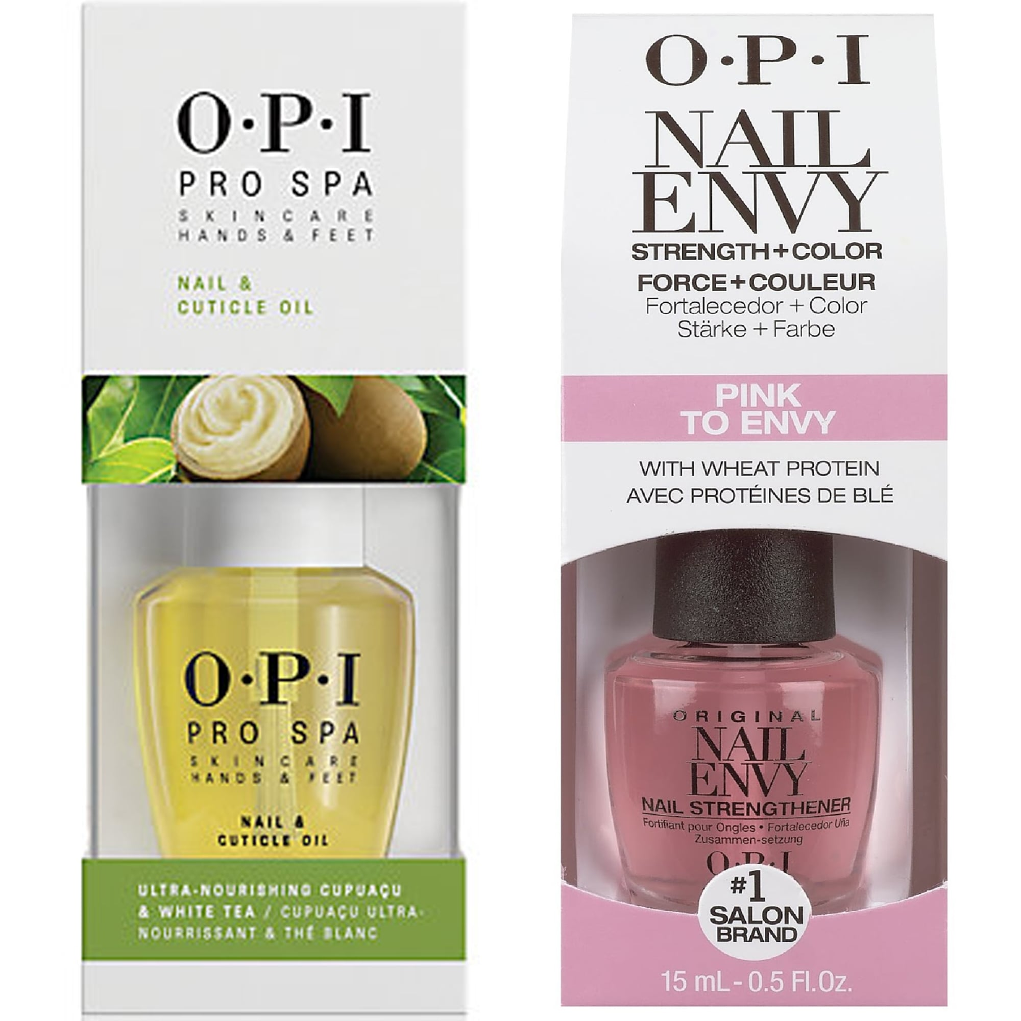 OPI Nail Pink To Envy & Pro Spa Cuticle Oil Duo (1x 15ml & 1x 14.8ml ...