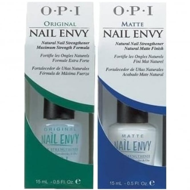 OPI Nail Envy Strengthener Original Formula & Matte Formula - Double The Envy Duo (X2 15ML)
