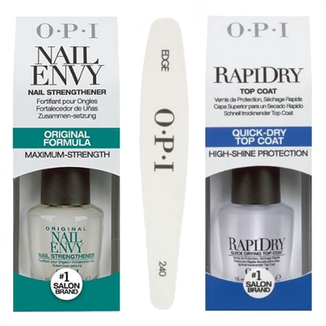 OPI Nail Envy - Strengthening Quick Dry File Set (3 Piece Set)