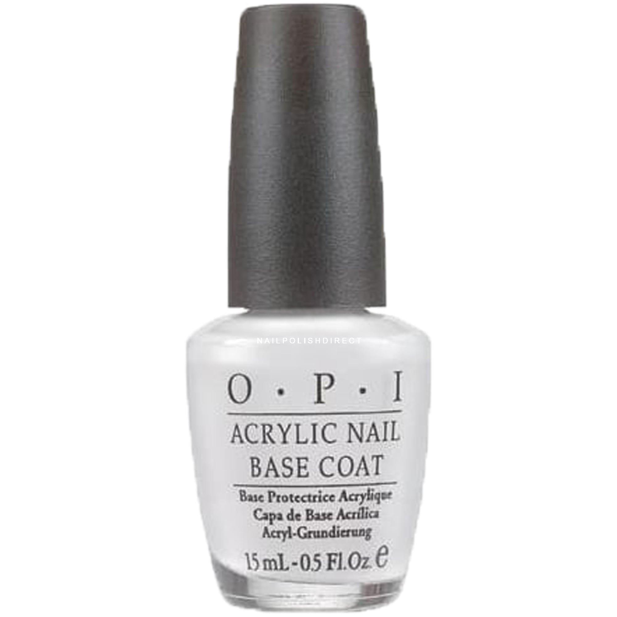 Base Coat Nail Polish: OPI Acrylic Nail Base Coat (NT T20) 15ml