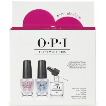 Nail Treatment - Basecoat & Nail Topcoat - Quick Nail Drip Dry - Treat Me Right (X2 15ML & X1 9ml) (SRH30)