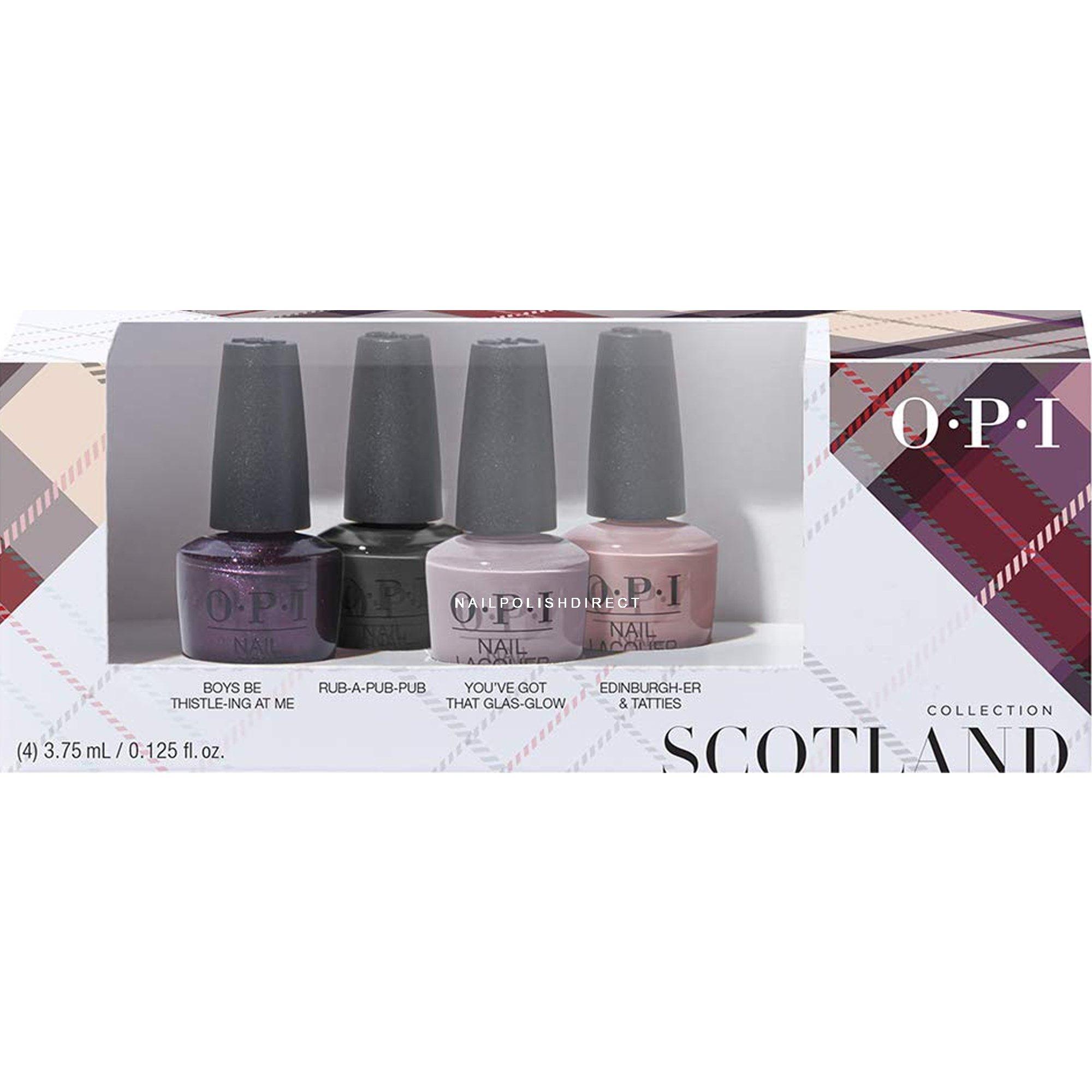 OPI Scotland 2019 Fall Nail Polish Collection - Mini Set ...