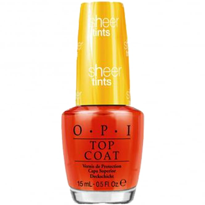 OPI Sheer Tint Nail Polish Collection Topcoat 2014 - I'm Never Amberrassed 15ml (NT S01)