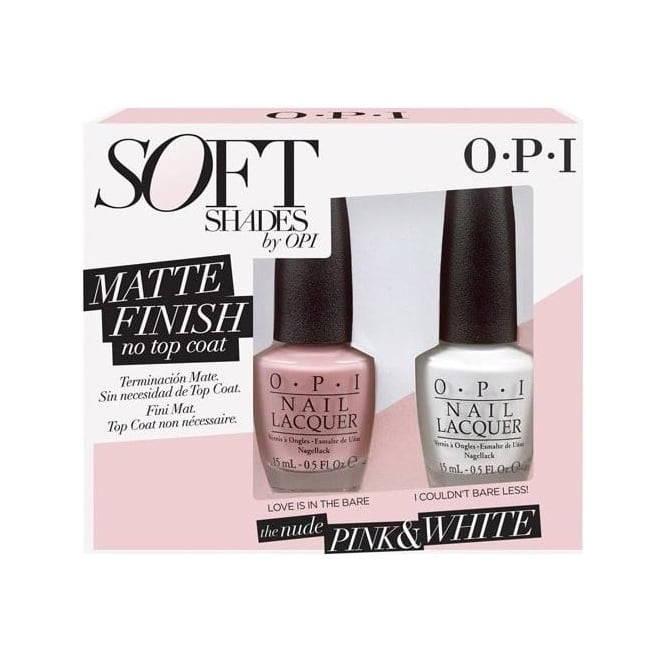 OPI Soft Shades Nail Polish Collection 2015 - The Nude Pink & White Duo 2x15mL (DD S27)