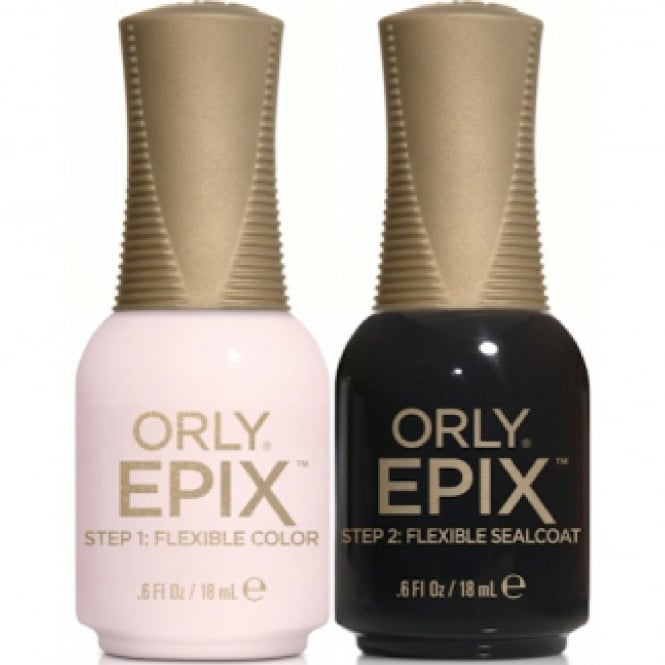 Orly Epix Flexible Color Nail Polish 2-Piece Duo Set - Hollywood Ending & Flexible Sealcoat (2x 18mL)