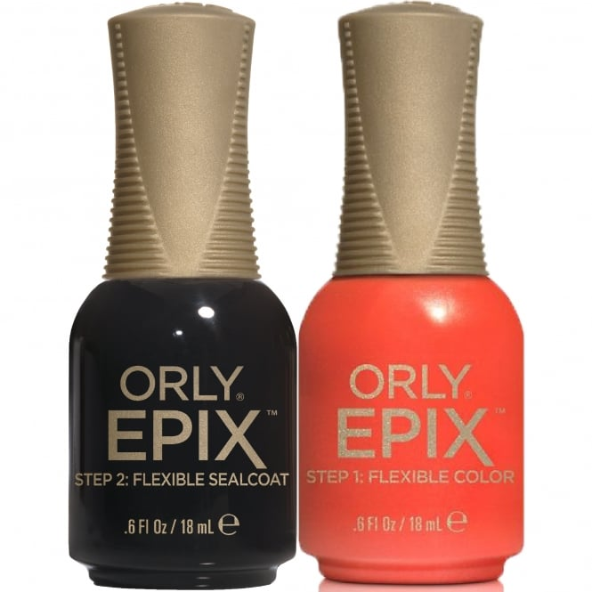 Orly Epix Flexible Color Nail Polish 2-Piece Duo Set - Improv & Flexible Sealcoat (2x 18mL)