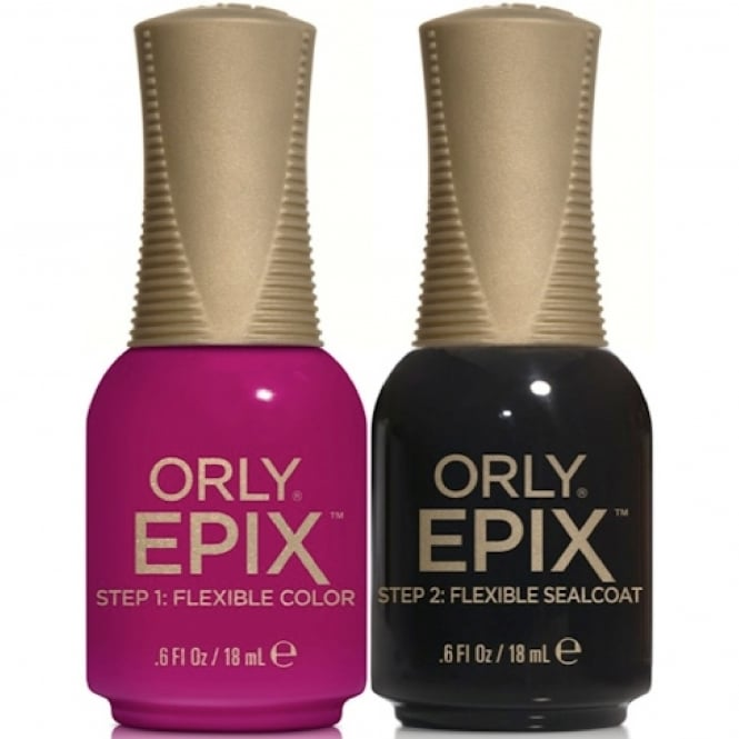 Orly Epix Flexible Color Nail Polish 2-Piece Duo Set - Nominee & Flexible Sealcoat (2x 18mL)