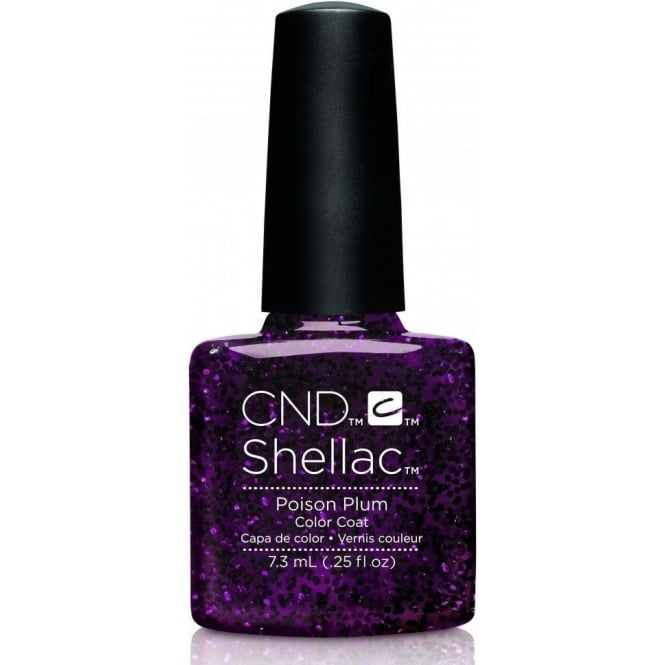 CND Shellac Power Nail Polish - Contradictions Collection - Poison Plum (7.3ml)