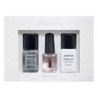 Precious Colour Gift Sets - Antiques Silver & Finale Shine 15ml - Free Reward Basecoat 7.4ml