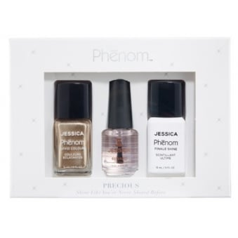 Precious Colour Gift Sets - Gold Vermeil & Finale Shine 15ml - Free Reward Basecoat 7.4ml