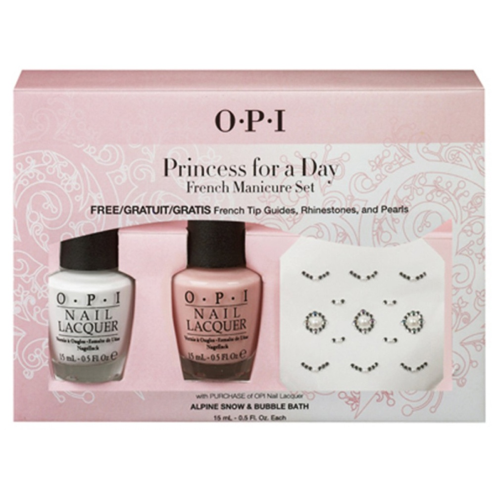 opi princess for a day french manicure set at nail polish direct. Black Bedroom Furniture Sets. Home Design Ideas