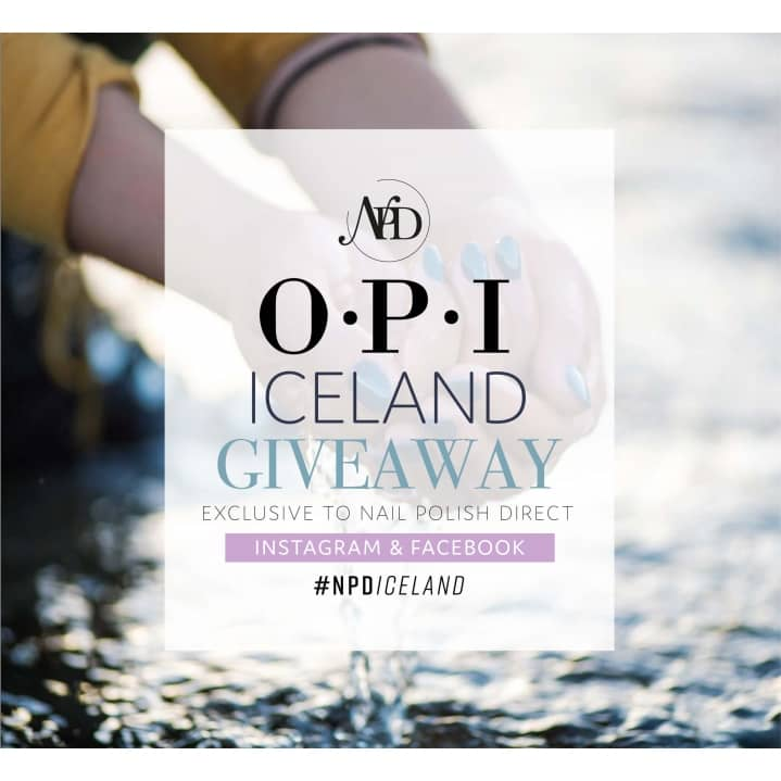 WIN a shade from the 2017 OPI Iceland Collection (Instagram and Facebook ONLY)