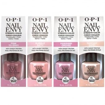OPI Strength + Color Nail Envy Nail Strengthening Treatment 4 x 15ml