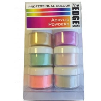Professional Colour Acrylic Powders (6 x10g)