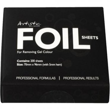 Professional Gel Removal Foil Sheets - 200 Piece Pack