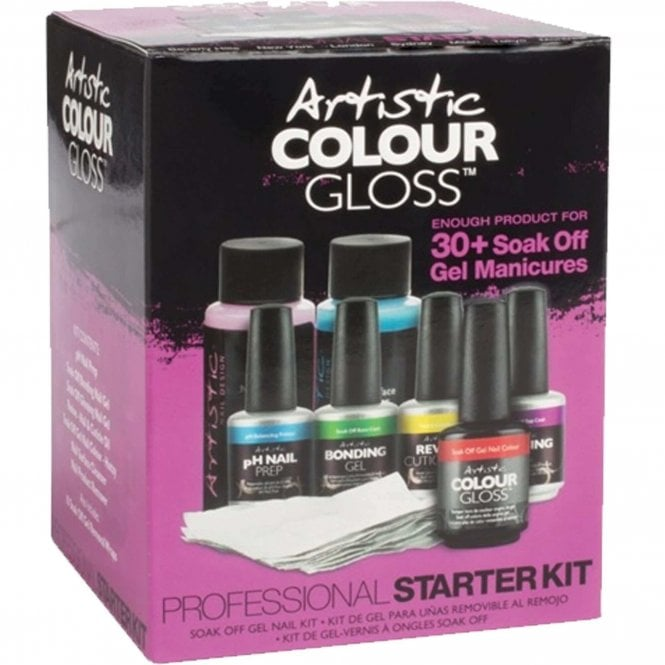Artistic Colour Gloss Professional Gel Starter Kit - 8-Piece Set (03420)
