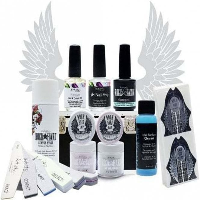 Artistic Rock Hard Professional Liquid & Powder Kit - Flawless French Collection (16 Piece Set) (02254)