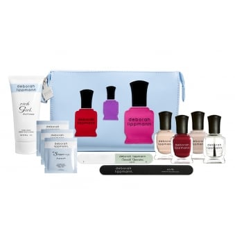 Professional Mini Nail Lacquer & Treatment Manicure Set - Come Fly With Me (8 Piece)