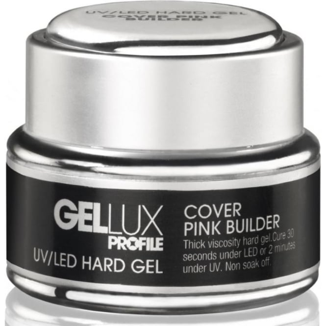 Gellux Profile Luxury Professional Hard Gel Nail UV & LED Treatment - Cover Pink Builder 15ml (0212553)