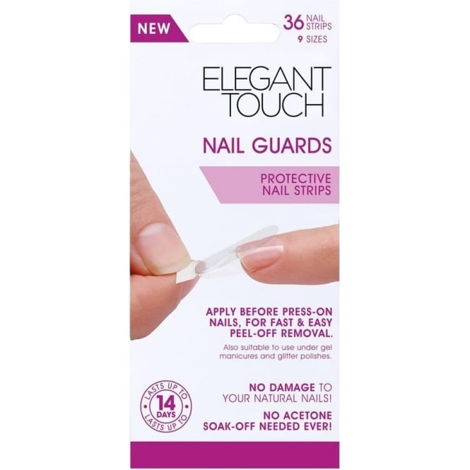 Elegant Touch Protective Nail Strips - Nail Guards (36 Pack)