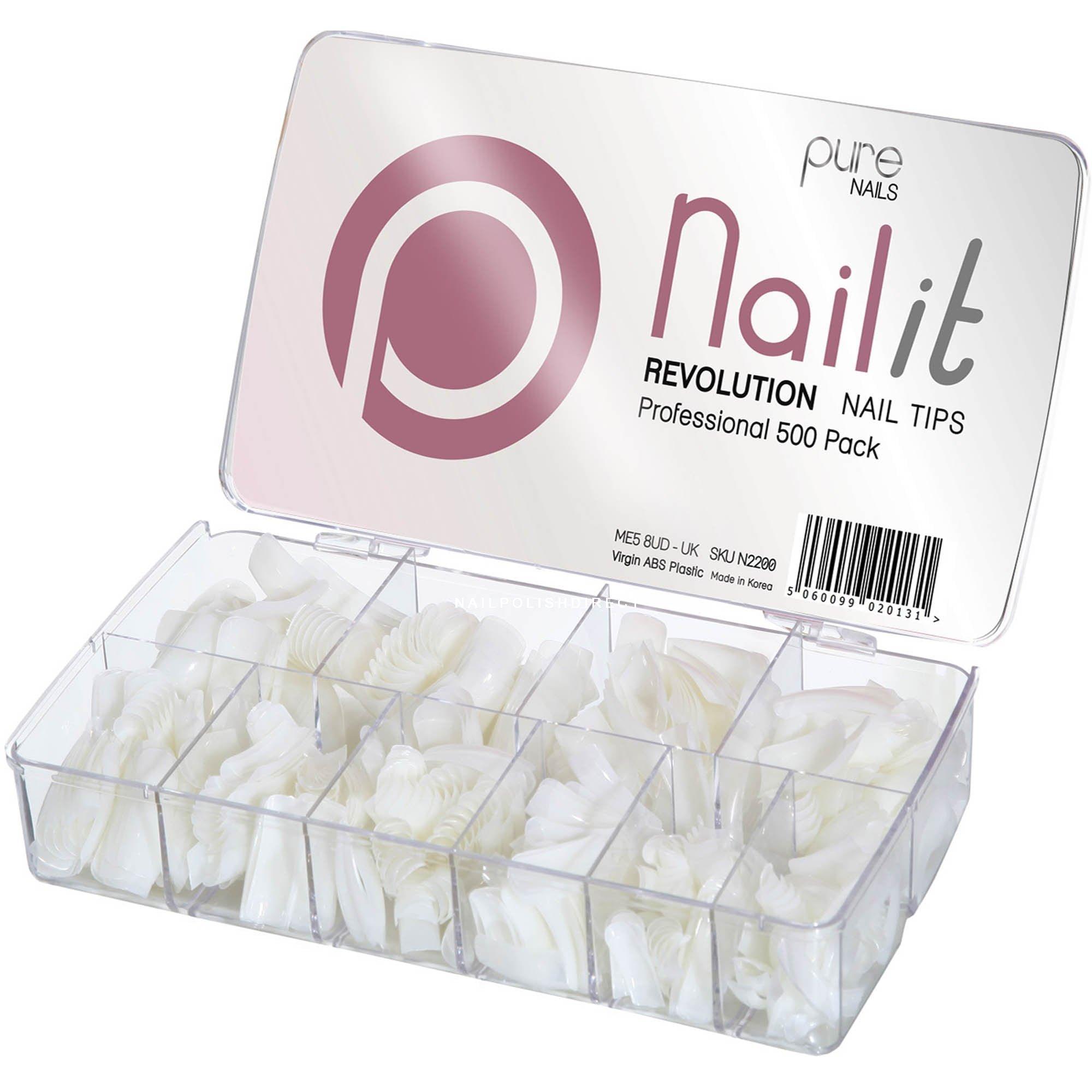 Pure Nails Revolution Nail Tips Pack 500 Nail Tips N2200