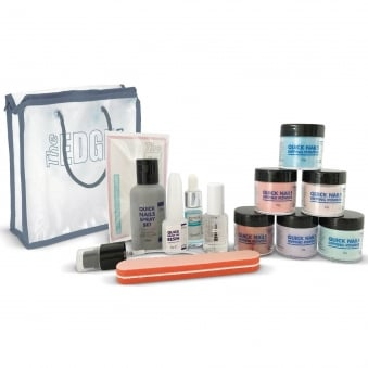 Quick Nails Coloured Dipping System & Powders Kit (12 Set Piece) (2001208)
