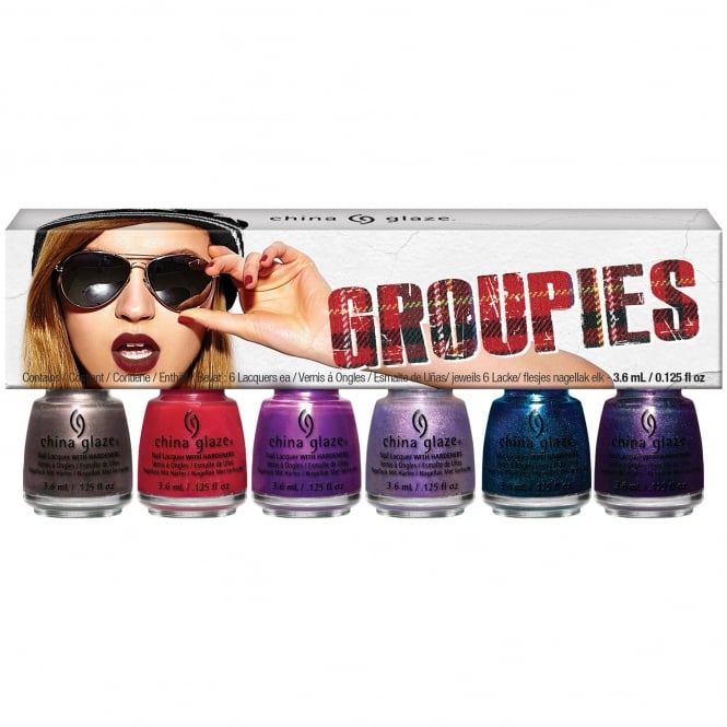 China Glaze Rebel Nail Polish Collection Fall 2016- Groupies Mini Kit (6 X 3.6ML) (83627)
