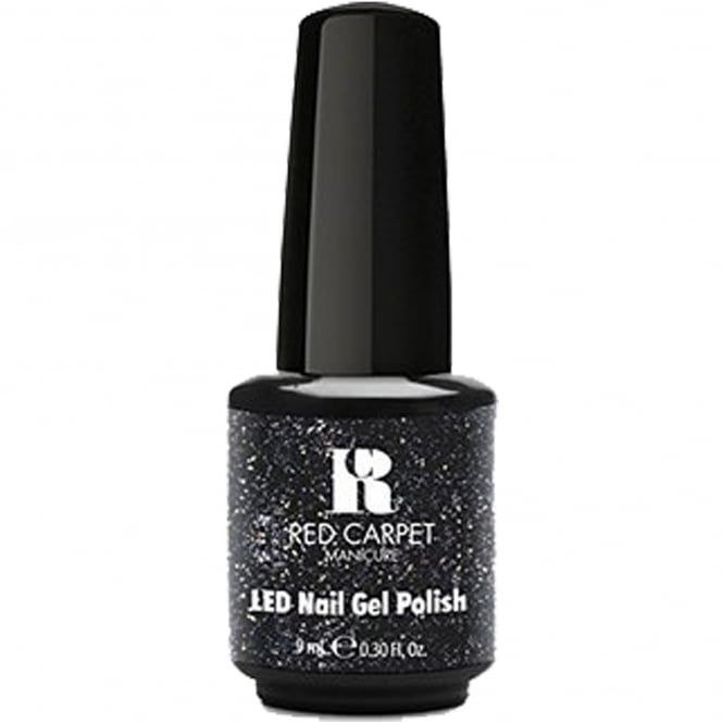 Red Carpet Manicure Gel A Touch Of Bling LED Nail Polish Collection - Black Tie Affair 9ml