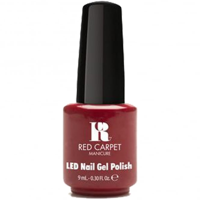 Red Carpet Manicure Gel Dazzling Gems LED Nail Polish Collection - Lady In Red 9ml