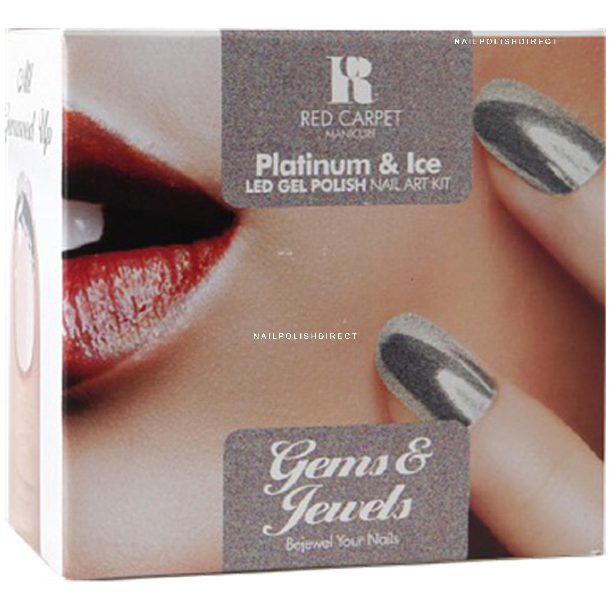 Red Carpet Manicure - Gems & Jewels Platinum & Ice Kit (x9 Piece)